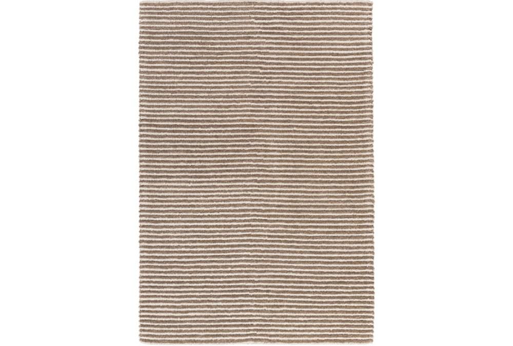 4'x6' Rug-Felted Wool Stripe Tan