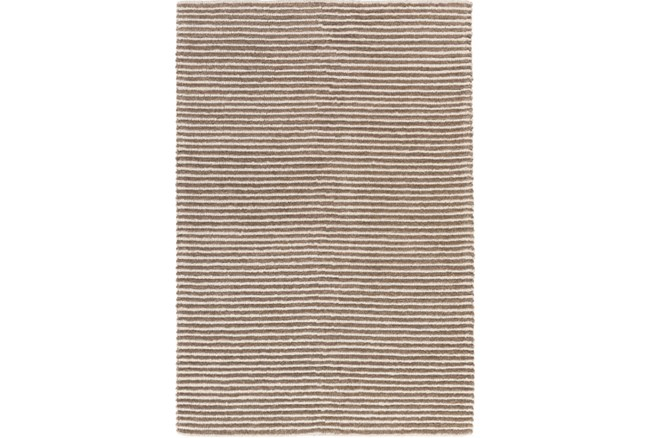 48X72 Rug-Felted Wool Stripe Tan - 360