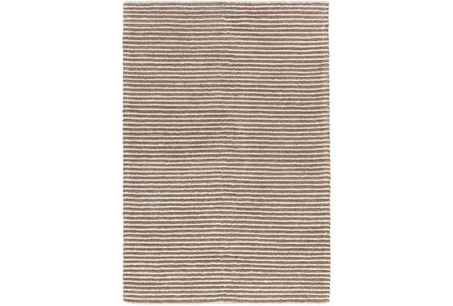 4'x6' Rug-Felted Wool Stripe Tan - 360