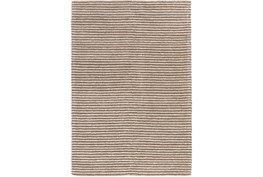 60X90 Rug-Felted Wool Stripe Tan