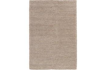 60X90 Rug-Felted Wool Stripe Tan