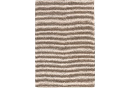 108X156 Rug-Felted Wool Stripe Tan