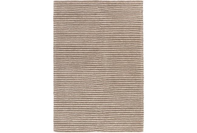 108X156 Rug-Felted Wool Stripe Tan - 360