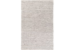 4'x6' Rug-Leather And Cotton Grid Teal