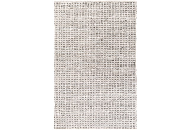 72X108 Rug-Leather And Cotton Grid Teal - 360