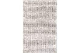96X120 Rug-Leather And Cotton Grid Teal