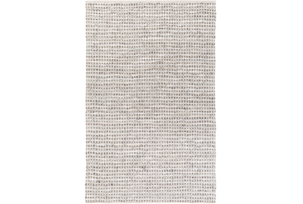 108X156 Rug-Leather And Cotton Grid Teal