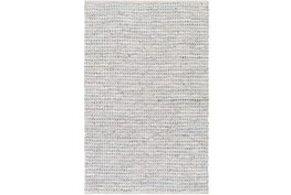 4'x6' Rug-Leather And Cotton Grid Grey