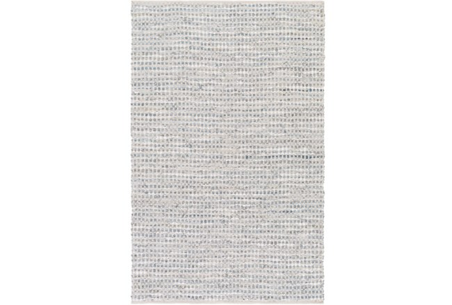 4'x6' Rug-Leather And Cotton Grid Grey - 360