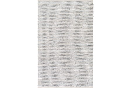 96X120 Rug-Leather And Cotton Grid Grey
