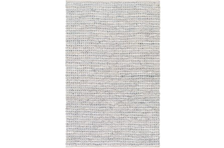 96X120 Rug-Leather And Cotton Grid Grey - Main