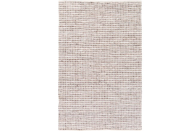24X36 Rug-Leather And Cotton Grid Brown - 360