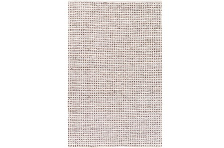 48X72 Rug-Leather And Cotton Grid Brown - Main