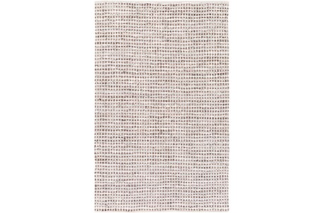 72X108 Rug-Leather And Cotton Grid Brown