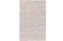 96X120 Rug-Leather And Cotton Grid Brown