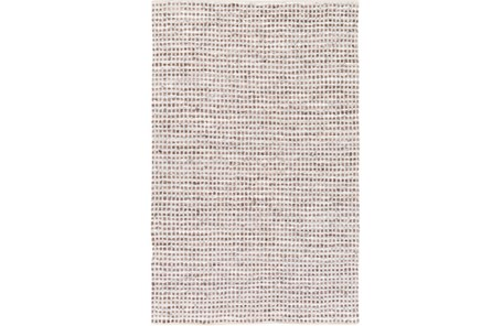 96X120 Rug-Leather And Cotton Grid Brown - Main