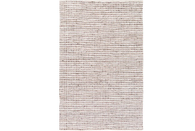 96X120 Rug-Leather And Cotton Grid Brown - 360