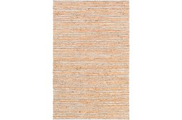 "5'x7'5"" Rug-Leather And Cotton Grid Orange"