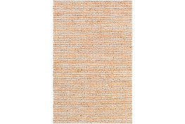 """5'x7'5"""" Rug-Leather And Cotton Grid Orange"""