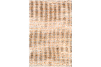 60X90 Rug-Leather And Cotton Grid Orange