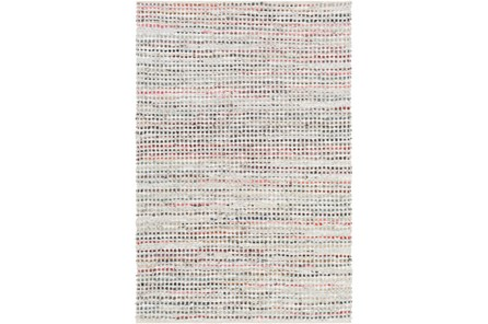 72X108 Rug-Leather And Cotton Grid Multi