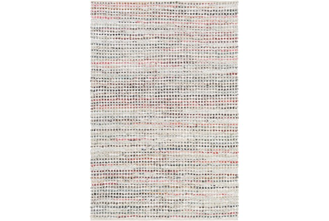 96X120 Rug-Leather And Cotton Grid Multi - 360