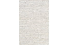 2'x3' Rug-Leather And Cotton Grid Pale Blue