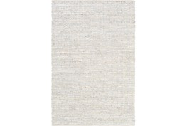 6'x9' Rug-Leather And Cotton Grid Pale Blue