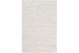 9'x13' Rug-Leather And Cotton Grid Pale Blue