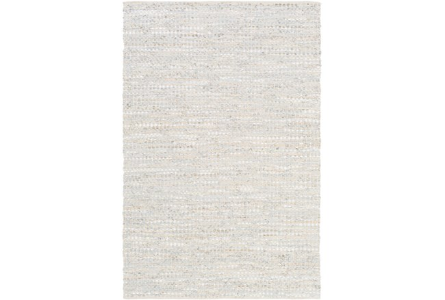 9'x13' Rug-Leather And Cotton Grid Pale Blue - 360