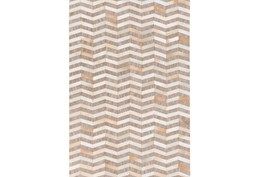 96X120 Rug-Viscose/Hide Chevron Taupe