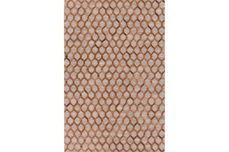 60X90 Rug-Viscose/Hide Honeycomb Brown - Main