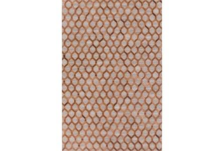96X120 Rug-Viscose/Hide Honeycomb Brown