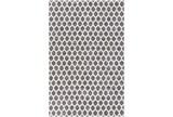24X36 Rug-Viscose/Hide Honeycomb Charcoal - Signature