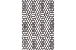 60X90 Rug-Viscose/Hide Honeycomb Charcoal