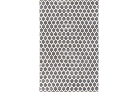 60X90 Rug-Viscose/Hide Honeycomb Charcoal