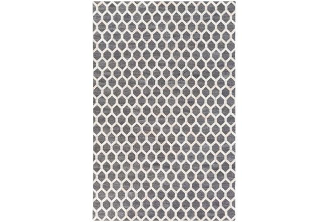 60X90 Rug-Viscose/Hide Honeycomb Charcoal - 360