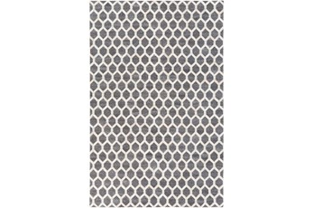 96X120 Rug-Viscose/Hide Honeycomb Charcoal