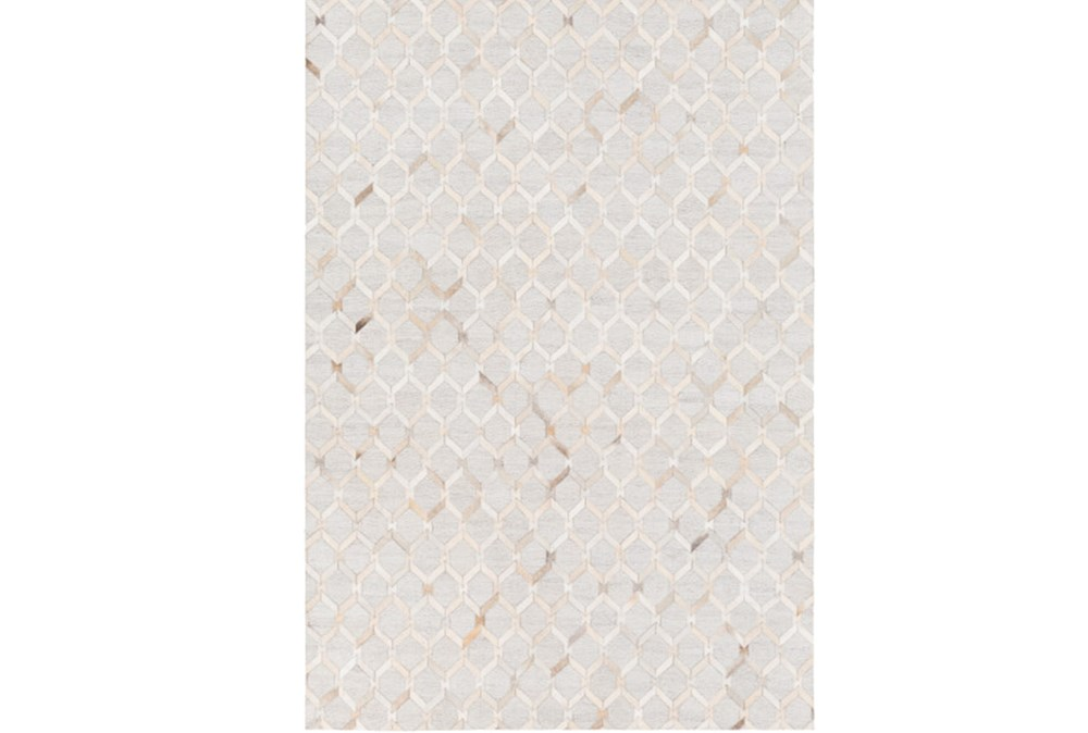 24X36 Rug-Viscose/Hide Honeycomb Camel