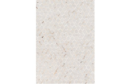 60X90 Rug-Viscose/Hide Honeycomb Camel