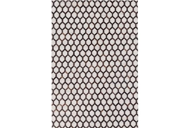 24X36 Rug-Viscose/Hide Honeycomb Black - 360