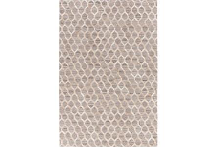 60X90 Rug-Viscose/Hide Honeycomb Taupe