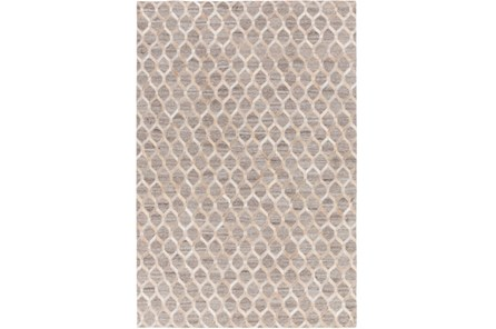 60X90 Rug-Viscose/Hide Honeycomb Taupe