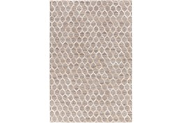 96X120 Rug-Viscose/Hide Honeycomb Taupe