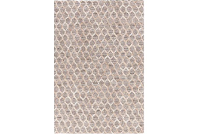 96X120 Rug-Viscose/Hide Honeycomb Taupe - 360