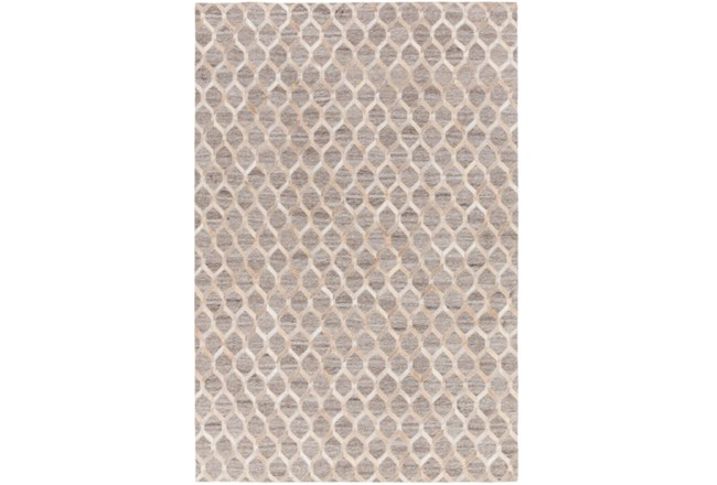 96X120 Rug-Viscose/Hide Honeycomb Taupe - 360