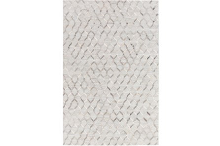24X36 Rug-Viscose/Hide Honeycomb Light Grey