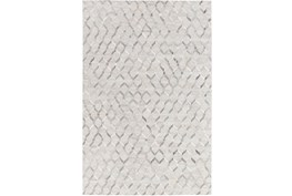 60X90 Rug-Viscose/Hide Honeycomb Light Grey