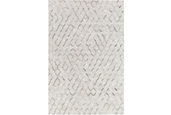"5'x7'5"" Rug-Viscose/Hide Honeycomb Light Grey"
