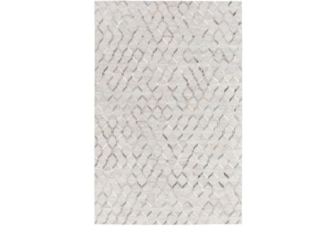 60X90 Rug-Viscose/Hide Honeycomb Light Grey - 360